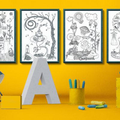 Čaro domova – Séria 4 plagátov